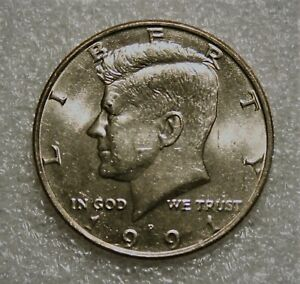 1991 P KENNEDY HALF DOLLAR  FROM UNCIRCULATED US MINT ROLL