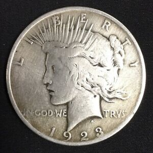 1923 PEACE SILVER DOLLAR FROM PHILADELPHIA 90  SILVER US COIN