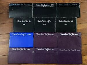 US PROOF UNCIRCULATED COIN SETS LOT  1976 2003 COMPLETE SET