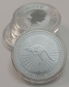 Click now to see the BUY IT NOW Price! 2020 P AUSTRALIA .9999 FINE SILVER KANGAROO 1 OZT   $1 BU IN CAPSULE