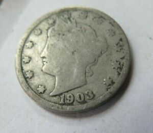 1903 LIBERTY HEAD 'V' NICKEL ESTATE COIN COLLECTION SALE