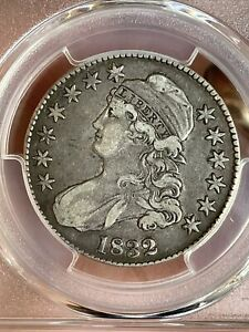 1832 CAPPED BUST HALF DOLLAR SMALL LETTERS PCGS VF30;  ORIGINALITY PATINA