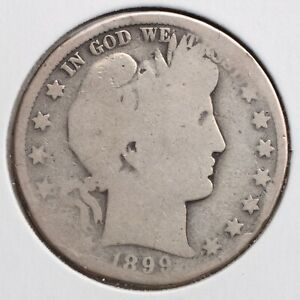 1899 O BARBER 50C HALF DOLLAR AG  90  SILVER   ACTUAL COIN PICTURED