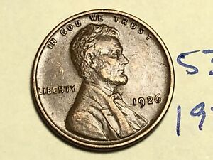 1926 1C BN LINCOLN CENT WHEAT PENNY 5362K