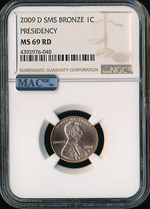 2009 D LINCOLN CENT PRESIDENCY NGC MS69 RED SMS PQ 95  COPPER FINEST SPOTLESS