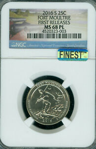 Click now to see the BUY IT NOW Price! 2016 S FORT MOULTRIE QUARTER NGC MS 68 PL F.R. MAC FINEST MAC SPOTLESS POP 2 ..