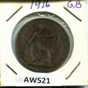 1 PENNY 1916 UK GREAT BRITAIN AW521.CA