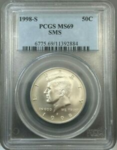 Click now to see the BUY IT NOW Price! 1998 S 50C SMS KENNEDY HALF DOLLAR PCGS MS69   JFK   NICE COIN