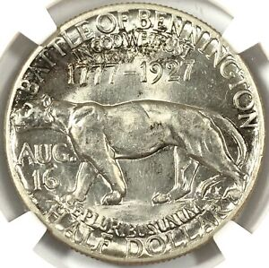 1927 UNITED STATES VERMONT SILVER COMMEMORATIVE HALF DOLLAR   NGC MS62