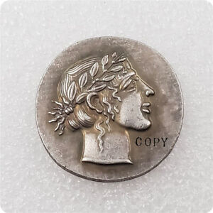 ANCIENT THE GREAT GREEK COIN BC SILVER PLATED DRACHM TETRADRACHM GREECE GODDESS