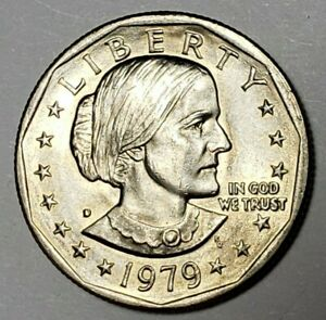 1979 D SUSAN B ANTHONY ONE DOLLAR COIN CIRCULATED