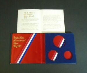 HOLDER AND COA FOR 1776 1976 SILVER BICENTENNIAL PROOF SET   NO COINS