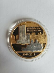 2001 2011 10TH ANNIVERSARY SEPTEMBER 11TH USS N.Y. / F.B.I. COMMEMORATIVE COIN
