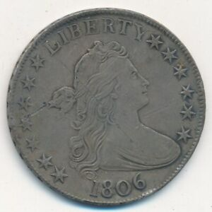 1806 DRAPED BUST SILVER HALF DOLLAR POINTED 6 STRONG DETAILS  NICE  SHIPS FREE