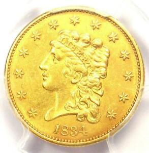 1834 CLASSIC GOLD $2.5 QUARTER EAGLE >PCGS UNC< SUPER FAST SHIPPING