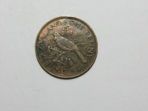 OLD NEW ZEALAND COIN   1964 PENNY   CIRCULATED