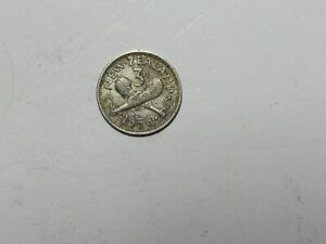 OLD NEW ZEALAND COIN   1956 3 PENCE   CIRCULATED DISCOLORED