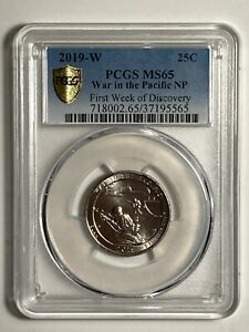 2019 W PCGS MS65 CLAD WAR IN THE PACIFIC AMERICA THE BEAUTIFUL QUARTER 25C