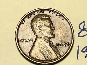 1935 1C BN LINCOLN CENT WHEAT PENNY 8316K