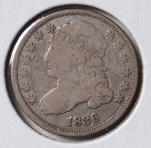 1836 10C CAPPED BUST DIME   VG    90  SILVER   ACTUAL COIN PICTURED