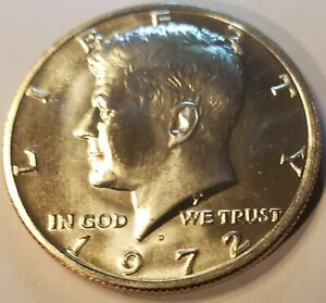 1972   D KENNEDY HALF DOLLAR WITH   SEVERE  MECHANICAL DOUBLING US COIN ERROR