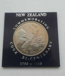 NEW ZEALAND ONE DOLLAR   COMMEMORATING COOK BICENTENARY