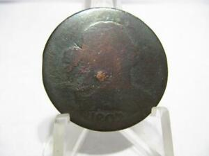 ERROR LY  1807 DRAPED BUST LARGE CENT 180  ROATATED DIE  NFM68