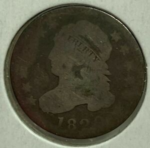 1820 LARGE O ABOUT GOOD AG CAPPED BUST SILVER US DIME 10C