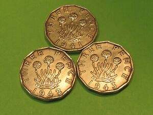 GREAT BRITAIN WORLD WAR II SPECIAL COINS   LOT OF 3  COMBINE SHIPPING SAVE $$