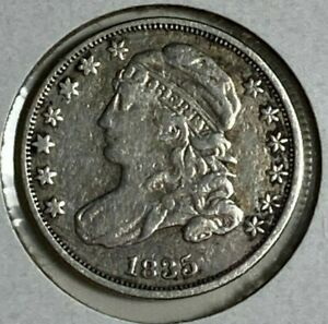 1835 FINE VF CAPPED BUST SILVER US DIME 10C