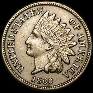1860 COPPER NICKEL INDIAN CENT PENNY       TYPE COIN       M465