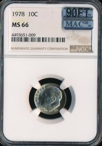 Click now to see the BUY IT NOW Price! 1978 ROOSEVELT DIME NGC MAC MS66 90FT FINEST GRADE $6 000.00 FOR A FT