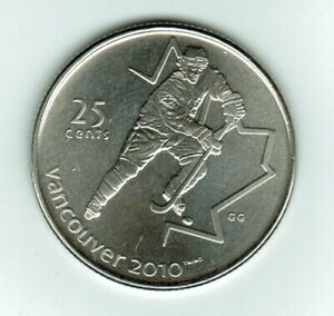 2007   OLYMPIC  HOCKEY 25 CENTS  PERFECT COIN STRONG AND CLEAR STRIKE