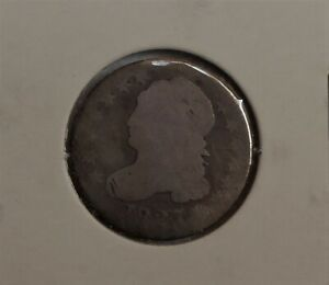 1827  BUST DIME . ORIGINAL . ALMOST 200 YEARS OLD TEN CENTS