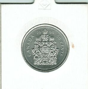 1998   50 CENTS  PERFECT COIN STRONG AND CLEAR STRIKE EXCEPTIONAL
