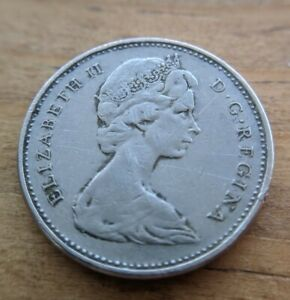 1975 5 CENT CANADA NICKEL COLLECTABLE COIN