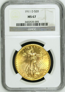 Click now to see the BUY IT NOW Price! 1911 D NGC MS67 SAINT GAUDENS $20 DOUBLE EAGLE