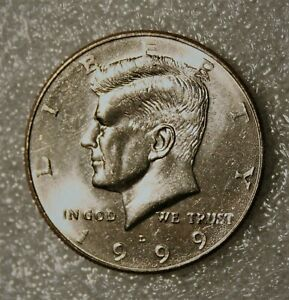 1999 D KENNEDY HALF DOLLAR FROM UNCIRCULATED US MINT ROLL
