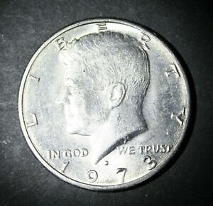 1973 D KENNEDY HALF DOLLAR  FROM UNCIRCULATED US MINT ROLL