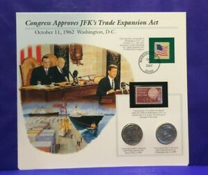 1999 KENNEDY UNCIRCULATED HALF DOLLARS & STAMP CONGRESS APPROVES TRADE ACT[3081]