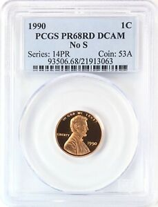 Click now to see the BUY IT NOW Price! 1990 NO S LINCOLN HEAD CENT PENNY 1C GEM PROOF RED PCGS PR68 RD