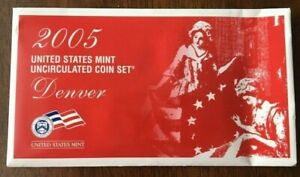 UNITED STATES MINT 2005D UNCIRCULATED COIN SET