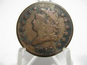 VERY  1812 CLASSIC HEAD SMALL DATE VF/XF LARGE CENT    NFM704