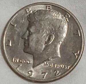 1972 P KENNEDY HALF DOLLAR CIRCULATED JFK US CURRENCY 50 CENT PIECE