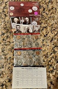 1985 UNCIRCULATED UNITED STATES MINT SET P & D 12 COINS