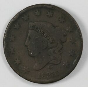 1833 CORONET HEAD EARLY US COPPER LARGE CENT 1C