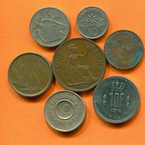 COLLECTION WORLD COINS MIXED LOT DIFFERENT COUNTRIES AND REGIONS L10373.1.C
