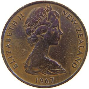 NEW ZEALAND 2 CENTS 1967 A62 819