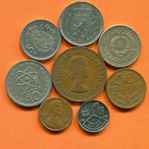 COLLECTION WORLD COINS MIXED LOT DIFFERENT COUNTRIES AND REGIONS L10384.1.C