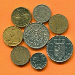 COLLECTION WORLD COINS MIXED LOT DIFFERENT COUNTRIES AND REGIONS L10386.1.C